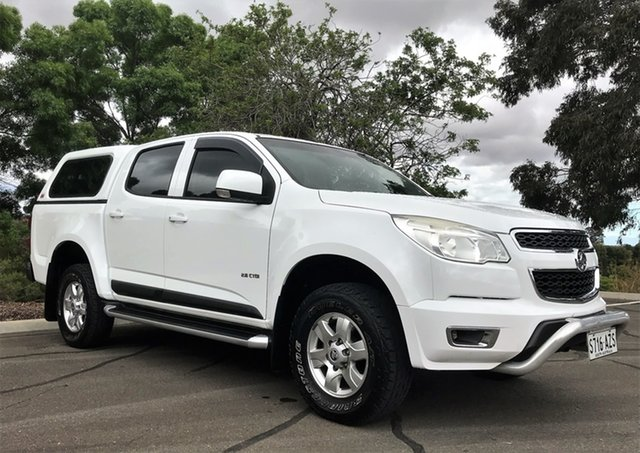 Used Holden Colorado RG MY13 LT Crew Cab 4x2 Enfield, 2013 Holden Colorado RG MY13 LT Crew Cab 4x2 White 6 Speed Sports Automatic Utility