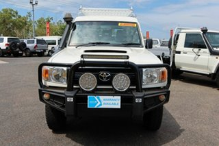 2016 Toyota Landcruiser VDJ78R White 5 Speed Manual Troop Carrier.