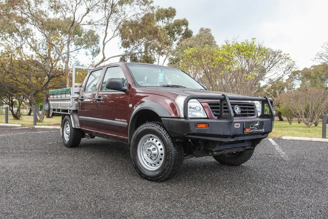 Used Holden Rodeo RA MY06 LX Crew Cab Lonsdale, 2006 Holden Rodeo RA MY06 LX Crew Cab Maroon 5 Speed Manual Cab Chassis