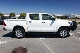 2016 Toyota Hilux GUN125R Workmate Double Cab White 6 Speed Manual Utility.