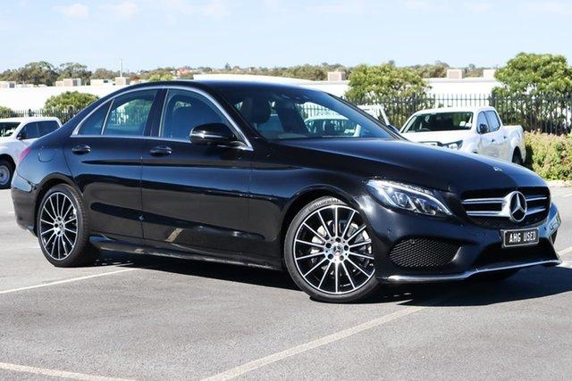 Used Mercedes-Benz C-Class W205 808MY C200 9G-Tronic Wangara, 2018 Mercedes-Benz C-Class W205 808MY C200 9G-Tronic Black 9 Speed Sports Automatic Sedan
