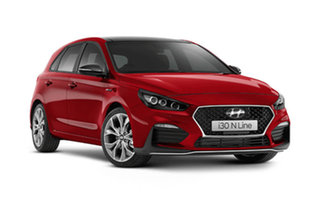 2021 Hyundai i30 PD.V4 N Line Premium Fiery Red 7 Speed Automatic Hatchback