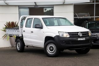 2012 Volkswagen Amarok 2H MY12 TSI300 4x2 White 6 Speed Manual Cab Chassis.