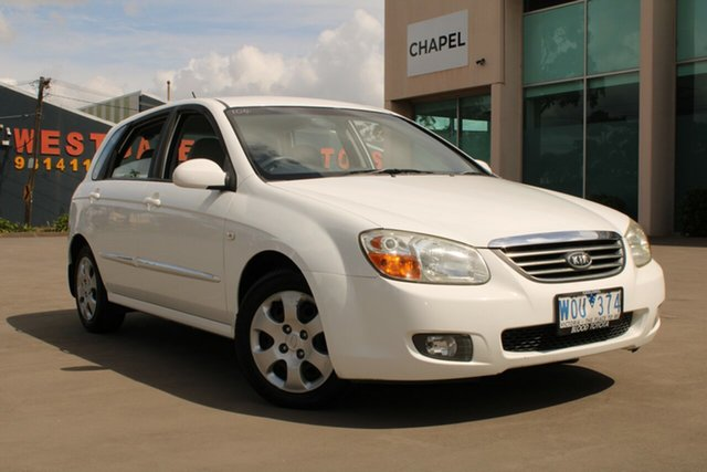 Used Kia Cerato LD West Footscray, 2007 Kia Cerato LD White & Silver 4 Speed Automatic Sedan