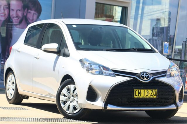 Used Toyota Yaris NCP130R MY15 Ascent Rosebery, 2015 Toyota Yaris NCP130R MY15 Ascent Silver 5 Speed Manual Hatchback