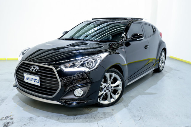Used Hyundai Veloster FS4 Series II SR Coupe D-CT Turbo Canning Vale, 2016 Hyundai Veloster FS4 Series II SR Coupe D-CT Turbo Black 7 Speed Sports Automatic Dual Clutch