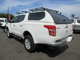 2015 Mitsubishi Triton GLX White 6 Speed Manual Dual Cab