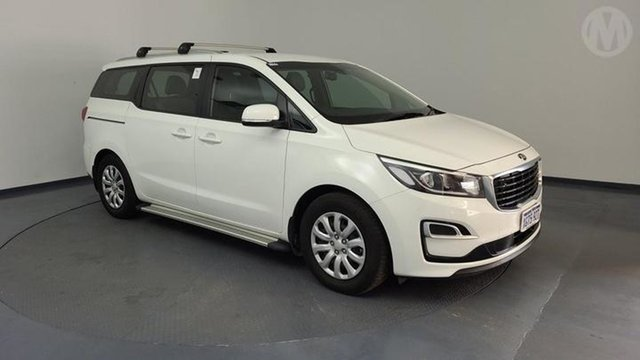 Used Kia Carnival YP MY20 S Perth Airport, 2019 Kia Carnival YP MY20 S Clear White & Wheat Silver 8 Speed Sports Automatic Wagon