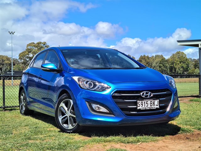 Used Hyundai i30 GD3 Series II MY16 Active X St Marys, 2015 Hyundai i30 GD3 Series II MY16 Active X Blue 6 Speed Sports Automatic Hatchback