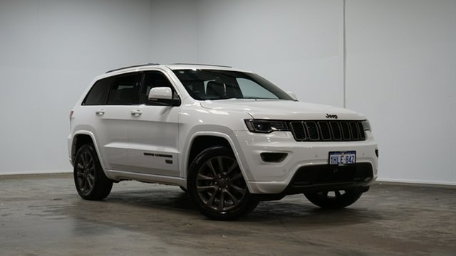 Used Jeep Grand Cherokee WK MY16 75th Anniversary Welshpool, 2016 Jeep Grand Cherokee WK MY16 75th Anniversary White 8 Speed Sports Automatic Wagon