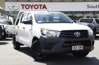 2017 Toyota Hilux TGN121R Workmate Double Cab 4x2 White 6 Speed Sports Automatic Utility.