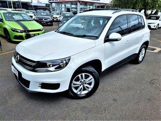 2015 Volkswagen Tiguan 5N MY15 118TSI DSG 2WD White 6 Speed Sports Automatic Dual Clutch Wagon.