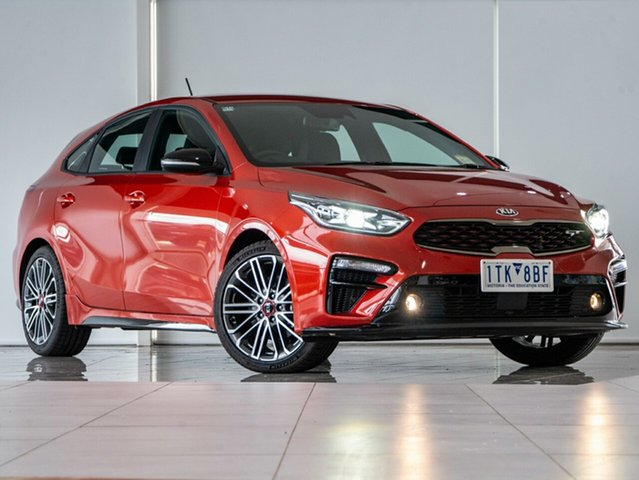 Used Kia Cerato BD MY21 GT DCT Deer Park, 2021 Kia Cerato BD MY21 GT DCT Orange 7 Speed Sports Automatic Dual Clutch Hatchback