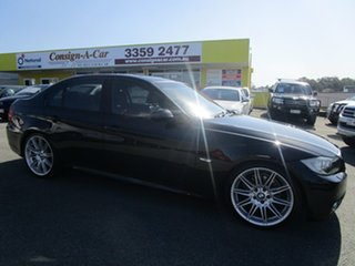 2008 BMW 3 Series E90 MY09 325i Steptronic Black 6 Speed Sports Automatic Sedan.