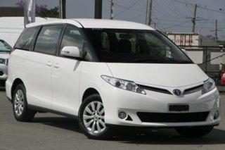 2016 Toyota Tarago ACR50R MY13 GLi Glacier White 7 Speed Constant Variable Wagon.