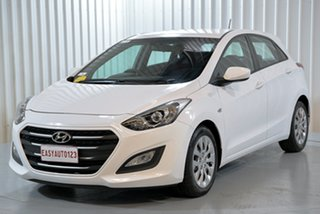 2017 Hyundai i30 GD4 Series II MY17 Active White 6 Speed Sports Automatic Hatchback.