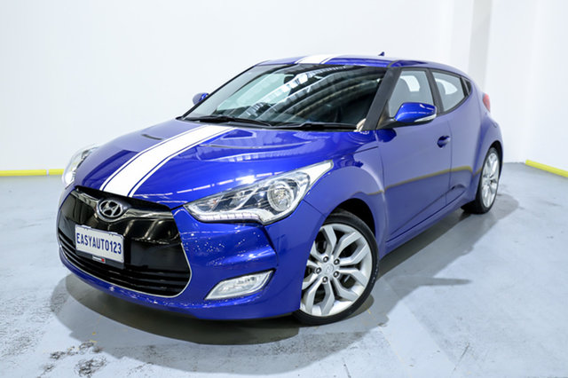 Used Hyundai Veloster FS2 Coupe D-CT Canning Vale, 2014 Hyundai Veloster FS2 Coupe D-CT Blue 6 Speed Sports Automatic Dual Clutch Hatchback