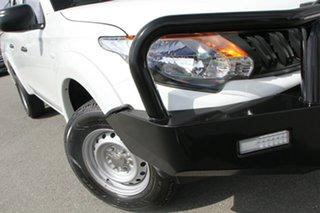 2018 Mitsubishi Triton MQ MY18 GLX Double Cab White Solid 6 Speed Manual Utility.
