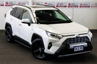 2019 Toyota RAV4 Axah54R Cruiser eFour Crystal Pearl 6 Speed Constant Variable Wagon Hybrid.