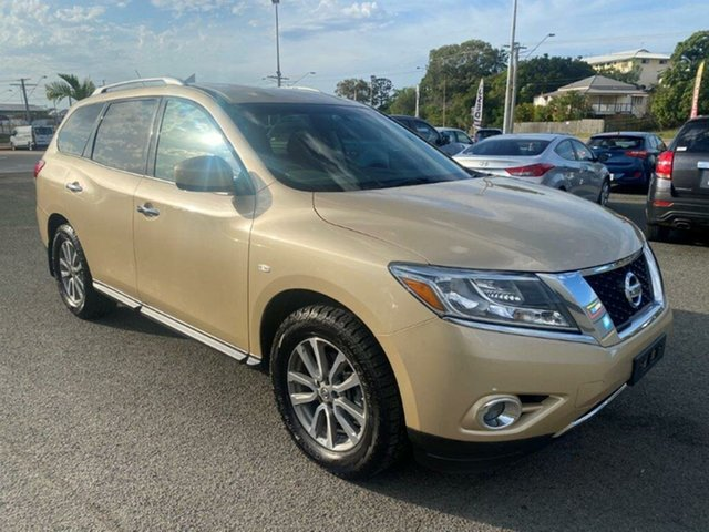 Used Nissan Pathfinder R52 MY14 ST X-tronic 2WD Gladstone, 2013 Nissan Pathfinder R52 MY14 ST X-tronic 2WD Gold 1 Speed Constant Variable Wagon