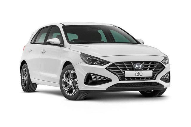 Demo Hyundai i30 Hamilton, 2021 Hyundai i30 PD.V4 i30 Polar White 6 Speed Automatic Hatchback