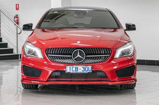 2014 Mercedes-Benz CLA-Class C117 CLA250 DCT 4MATIC Sport Jupiter Red 7 Speed.