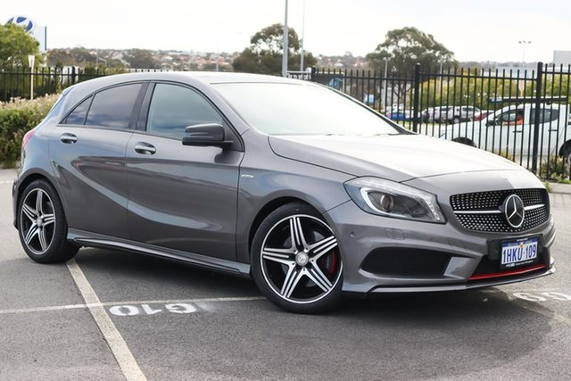 Used Mercedes-Benz A-Class W176 805+055MY A250 D-CT Sport Wangara, 2015 Mercedes-Benz A-Class W176 805+055MY A250 D-CT Sport Grey 7 Speed Sports Automatic Dual Clutch