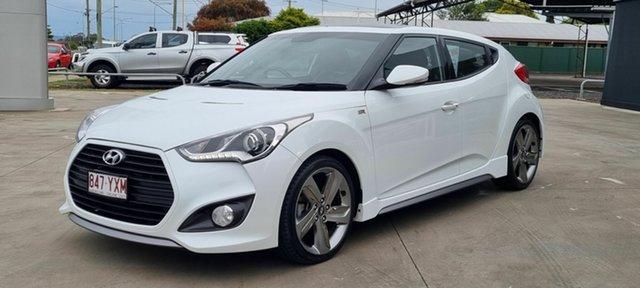 Used Hyundai Veloster Beaudesert, 2014 Hyundai Veloster White 6 Speed Automatic Coupe