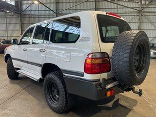 2002 Toyota Landcruiser FZJ105R GXL White 4 Speed Automatic Wagon