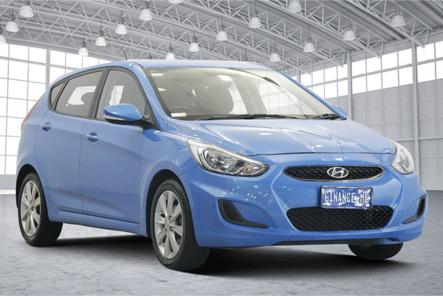 Used Hyundai Accent RB6 MY18 Sport Victoria Park, 2018 Hyundai Accent RB6 MY18 Sport Blue 6 Speed Sports Automatic Hatchback