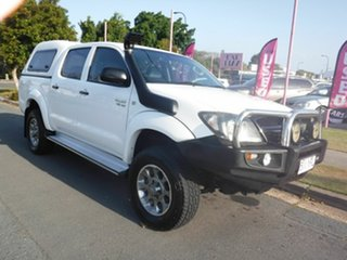 2007 Toyota Hilux SR White 5 Speed Automatic Dual Cab.