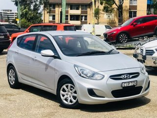 2012 Hyundai Accent RB Active Silver 4 Speed Sports Automatic Hatchback.