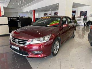 2014 Honda Accord 9th Gen MY13 VTi Red 5 Speed Sports Automatic Sedan.