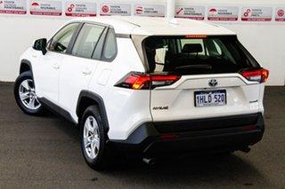 Toyota RAV4 Glacier White Wagon.