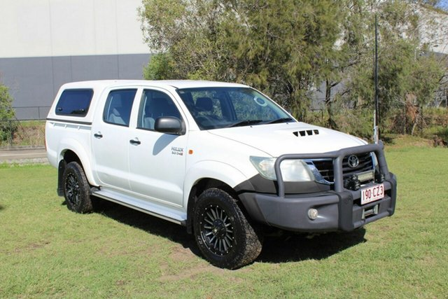 Used Toyota Hilux KUN26R MY12 SR Double Cab Ormeau, 2011 Toyota Hilux KUN26R MY12 SR Double Cab White 4 Speed Automatic Utility
