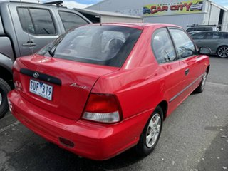 2001 Hyundai Accent LC GL Red 5 Speed Manual Hatchback.