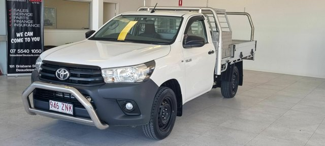 Used Toyota Hilux Beaudesert, 2018 Toyota Hilux White 5 Speed Manual Utility