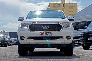 2021 Ford Ranger PX MkIII 2021.75MY XLT Double Cab White 10 Speed Sports Automatic.