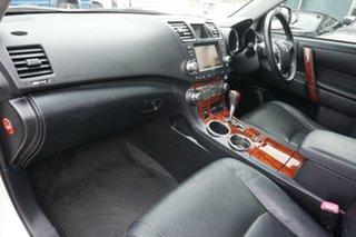 2013 Toyota Kluger GSU45R MY12 KX-R AWD White 5 Speed Sports Automatic Wagon
