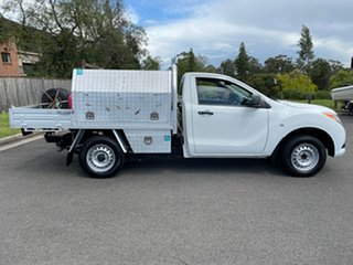 2015 Mazda BT-50 MY13 XT (4x2) White 6 Speed Manual Cab Chassis