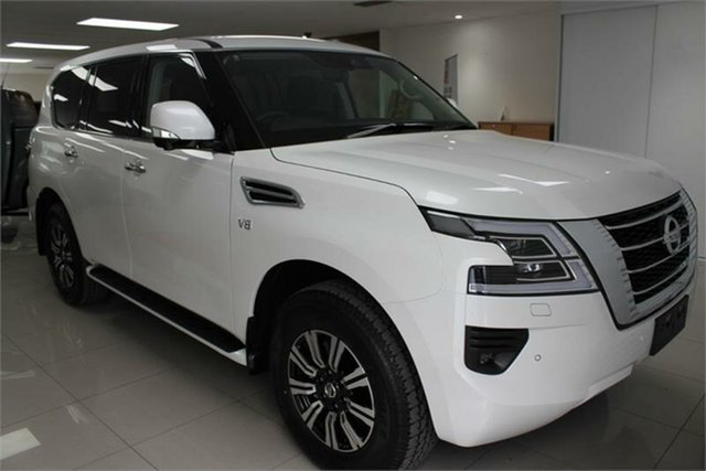 New Nissan Patrol Y62 TI , 2021 Nissan Patrol Y62 TI Moonstone White 7 Speed Sports Automatic Wagon