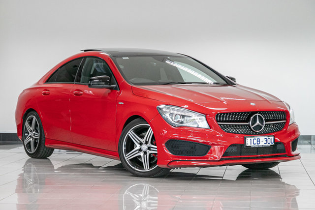 Used Mercedes-Benz CLA-Class C117 CLA250 DCT 4MATIC Sport , 2014 Mercedes-Benz CLA-Class C117 CLA250 DCT 4MATIC Sport Jupiter Red 7 Speed
