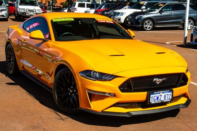 Used Ford Mustang FN 2018MY GT Fastback SelectShift Attadale, 2018 Ford Mustang FN 2018MY GT Fastback SelectShift Orange 10 Speed Sports Automatic Fastback
