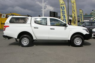 2018 Mitsubishi Triton MQ MY18 GLX Double Cab White Solid 6 Speed Manual Utility