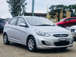 2012 Hyundai Accent RB Active Silver 4 Speed Sports Automatic Hatchback