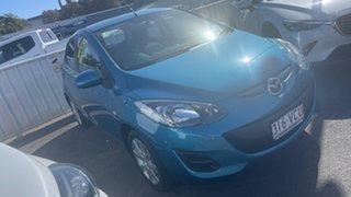 2014 Mazda 2 DJ2HAA Neo SKYACTIV-Drive Aquatic Blue 6 Speed Sports Automatic Hatchback.