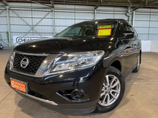 2016 Nissan Pathfinder R52 MY15 ST X-tronic 2WD Black 1 Speed Constant Variable Wagon.