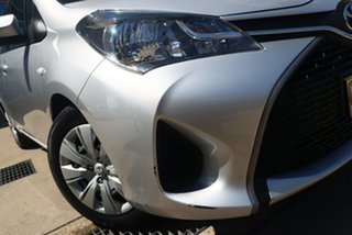 2015 Toyota Yaris NCP130R MY15 Ascent Silver 5 Speed Manual Hatchback.