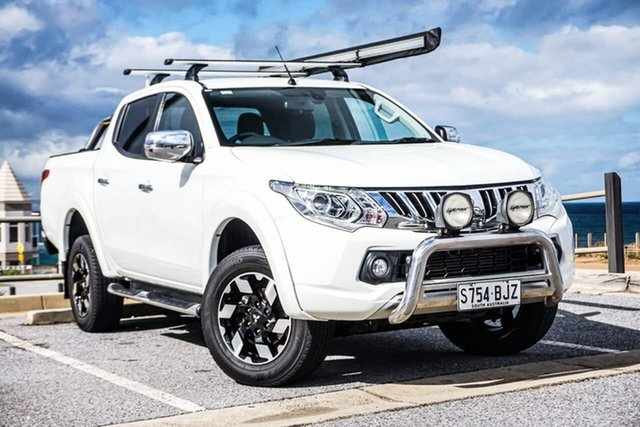 Used Mitsubishi Triton MQ MY16 Exceed Double Cab Christies Beach, 2016 Mitsubishi Triton MQ MY16 Exceed Double Cab White 5 Speed Sports Automatic Utility