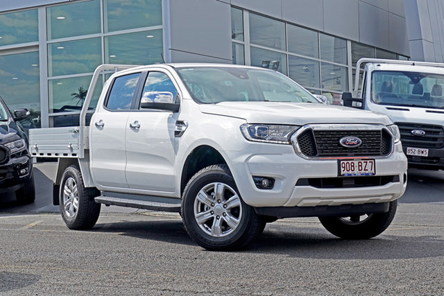 Used Ford Ranger PX MkIII 2021.75MY XLT Double Cab Springwood, 2021 Ford Ranger PX MkIII 2021.75MY XLT Double Cab White 10 Speed Sports Automatic